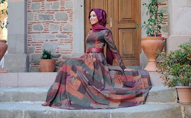 بالصور ازياء سهرة للمحجبات احدث كوليكشن فساتين سواريه للمحجبات 2019 , ملابس حشمه مميزه 174 7