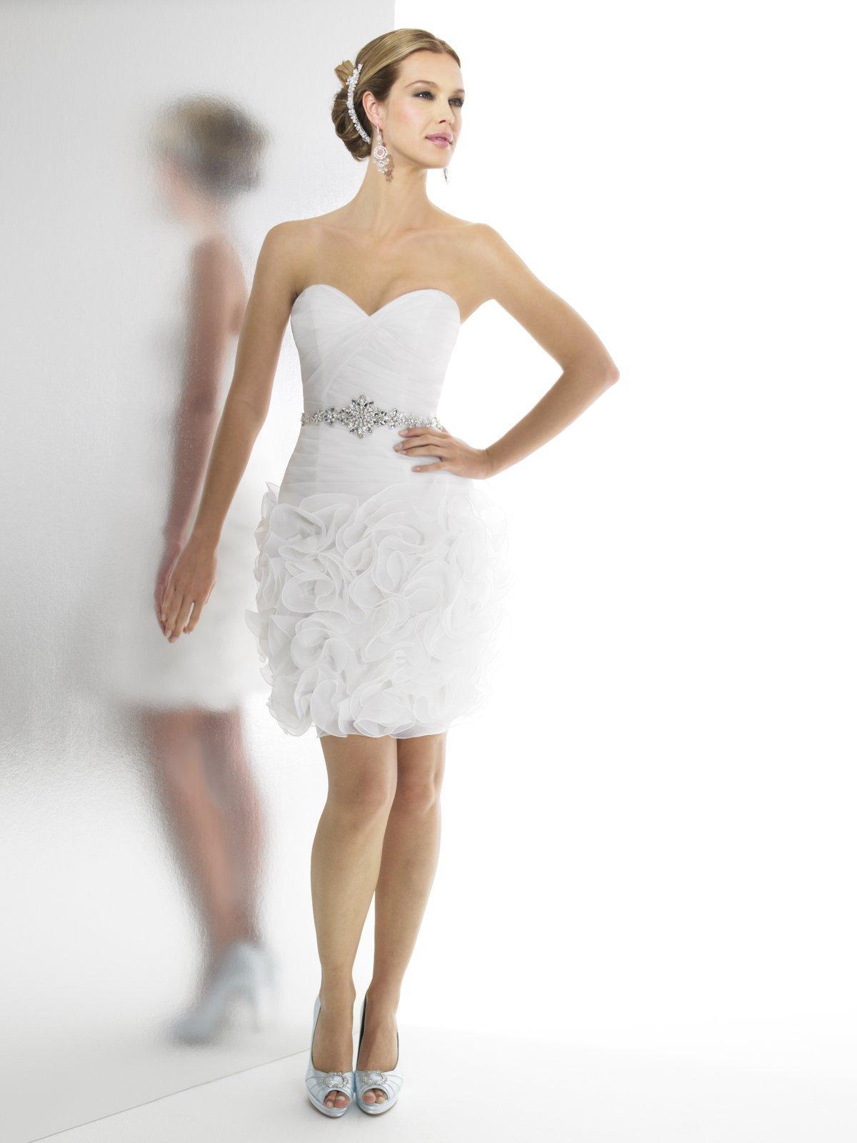 بالصور فساتين اعراس قصيرة 2019 , ملابس سواريه جميلة 176 8