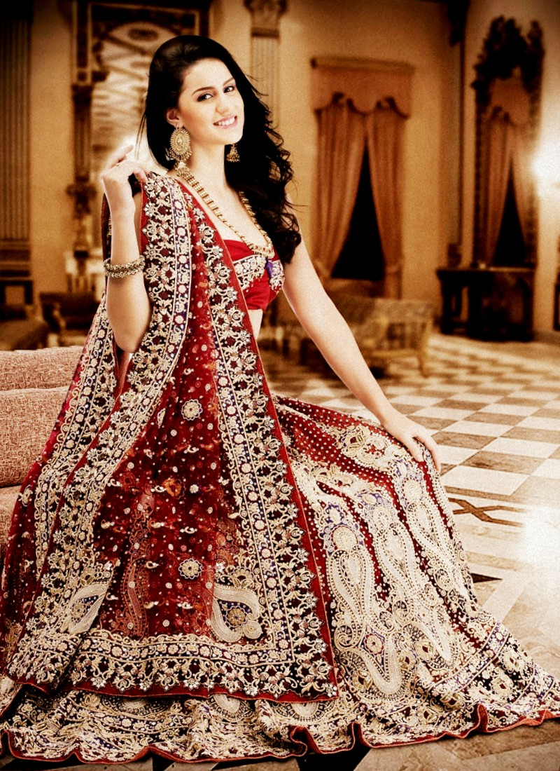 صور فساتين اعراس هندي , اجمل فستان هندى