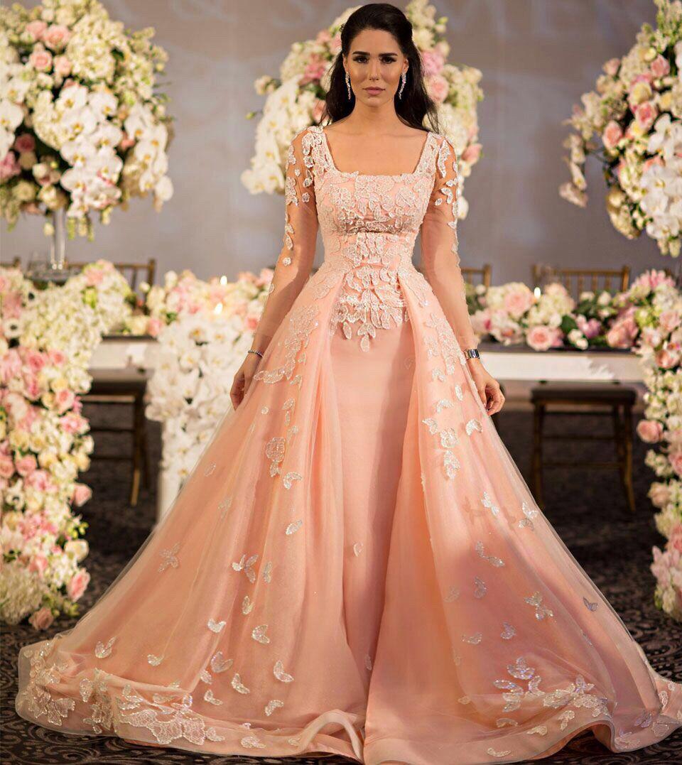 بالصور اجمل موضة فساتين خطوبة للبنات 2019 , حديثه وفخمه لعروسه مميزه 279 9