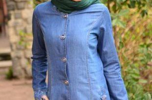 صور فساتين محجبات جينز , ازياء اسلاميه , رقتك وجمالك سر انوثتك
