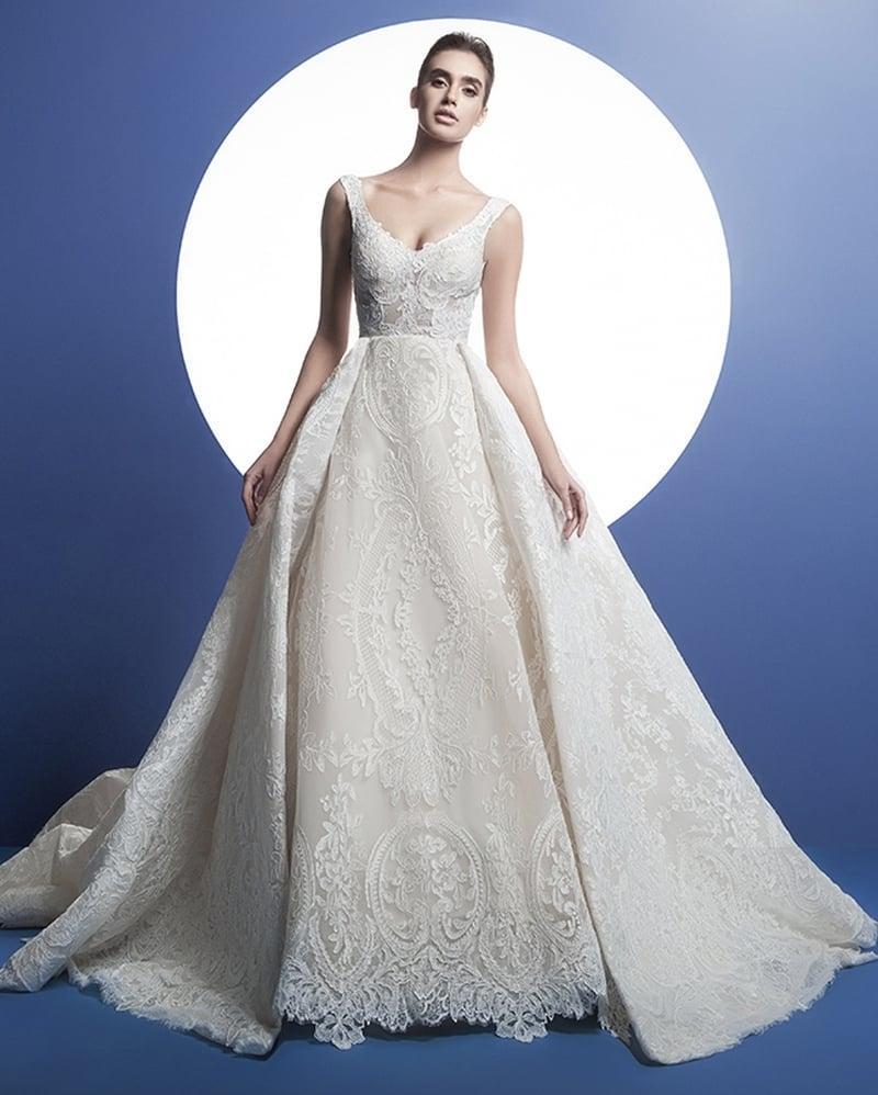 بالصور فساتين زفاف فخمه 2019 احدث فساتين فخمه للعروس 2019 , فرحتك هتكمل معانا يا موزة 383 5