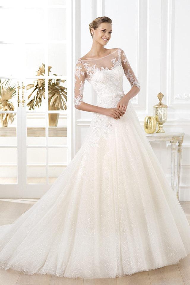 5831b022c تصاميم فساتين زفاف 2019 , كولكشن جميل خااالص - فساتين
