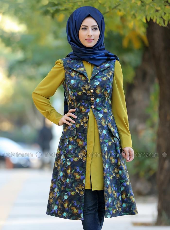 صوره كولكشن ازياء جميلة للمحجبات 2018 , جمال لبس المراة المحجبة العصرية