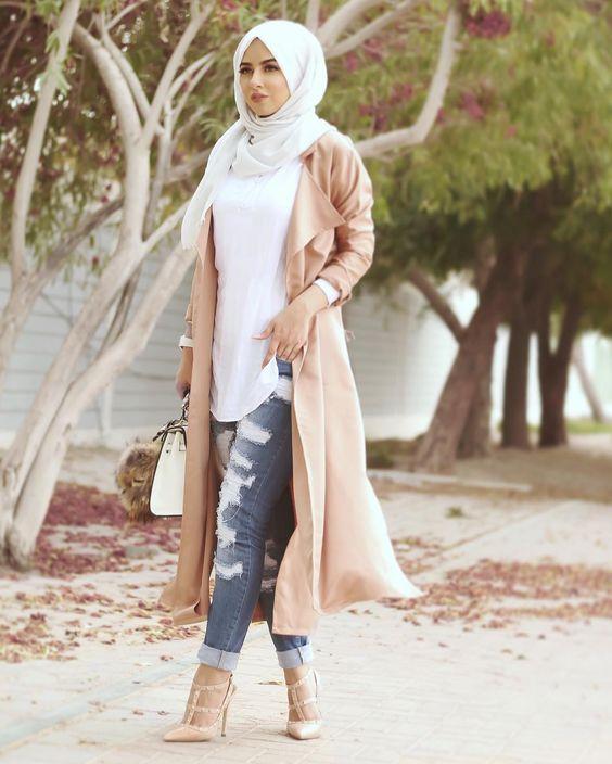 بالصور كولكشن ازياء جميلة للمحجبات 2019 , جمال لبس المراة المحجبة العصرية 398 10