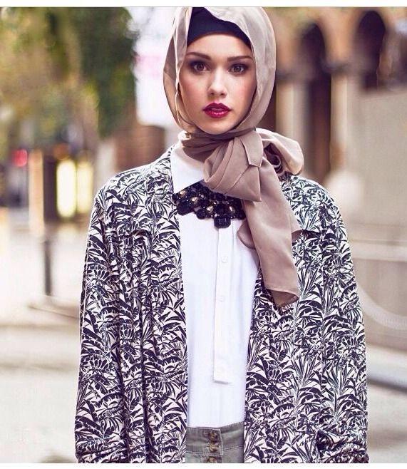 بالصور كولكشن ازياء جميلة للمحجبات 2019 , جمال لبس المراة المحجبة العصرية 398 11