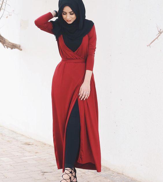 بالصور كولكشن ازياء جميلة للمحجبات 2019 , جمال لبس المراة المحجبة العصرية 398 6
