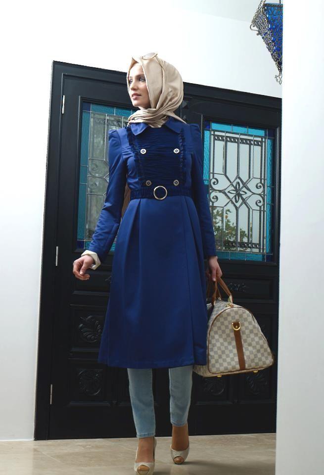 بالصور كولكشن ازياء جميلة للمحجبات 2019 , جمال لبس المراة المحجبة العصرية 398 9