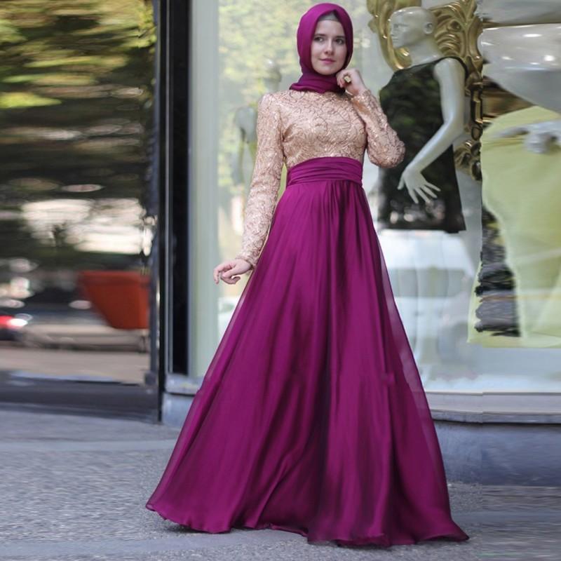 بالصور فساتين حلوة وناعمة , طويلة ومحتشمة للمحجبات , اجمل وارق ملابس الزى الاسلامى 444 10