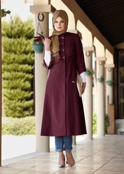 بالصور فساتين حلوة وناعمة , طويلة ومحتشمة للمحجبات , اجمل وارق ملابس الزى الاسلامى 444 4