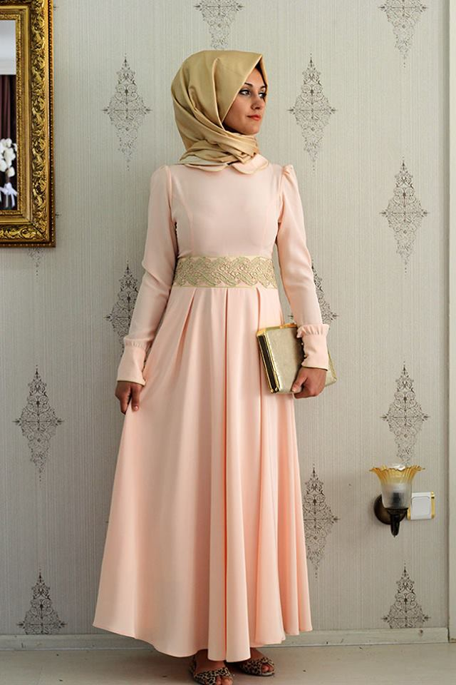 29dfb0b4b صور فساتين حلوة وناعمة , طويلة ومحتشمة للمحجبات , اجمل وارق ملابس الزى  الاسلامى
