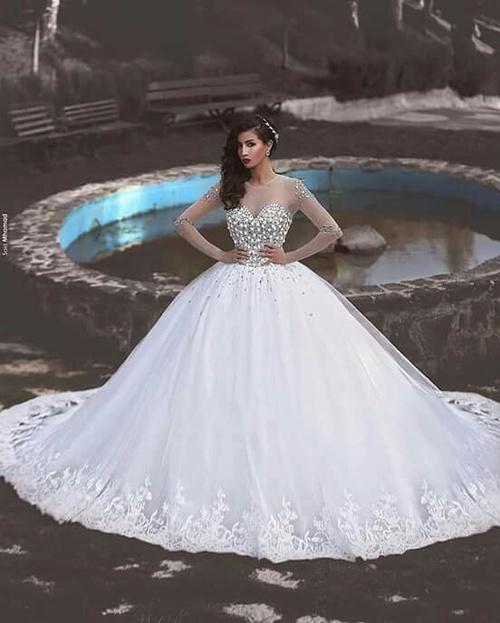1df1bdf90 احدث فساتين الزفاف 2019 , اجمل وارق لبس الفرح - فساتين