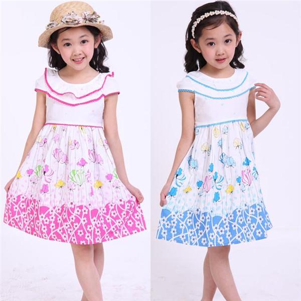صورة تفصيل فساتين صيفية , لاحلى اطفال , شياكة البنات الصغار مع ارتدائها الملابس الجميلة