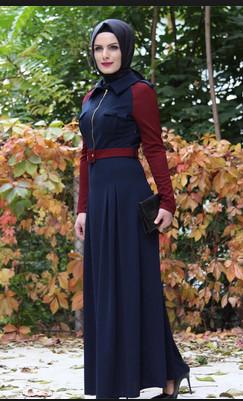 بالصور فساتين محجبات مراهقات , احدث تصميمات ملابس البنات 527 5