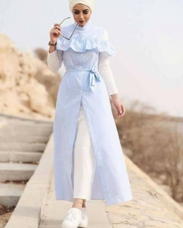 صورة موضة الحجاب 2019 , لفات حجاب جديدة بالصور