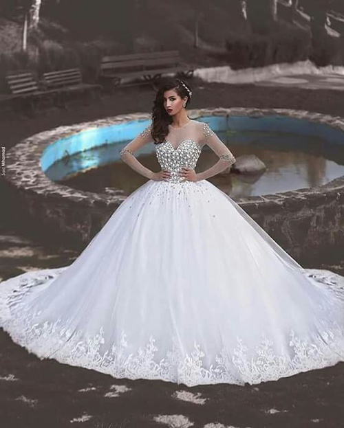 66a48eaa97d30 صور فساتين للعرائس 2018  صور فساتين زفاف ...
