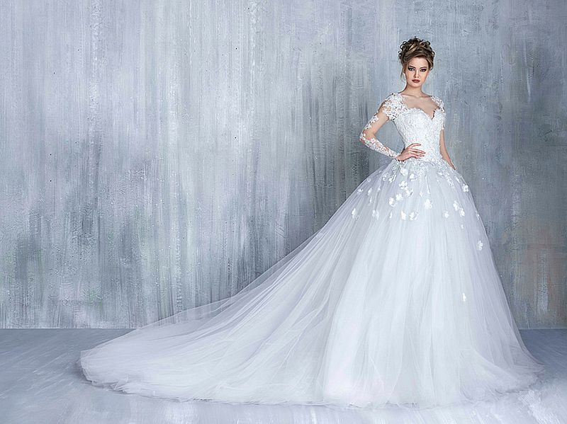 نتيجة بحث الصور عن صور فساتين زفاف جديدة شتوية