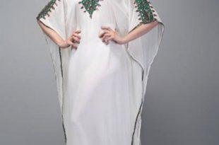 صورة جلابيات مغربية ذوق 2019 , قماشات واشكال تحفة