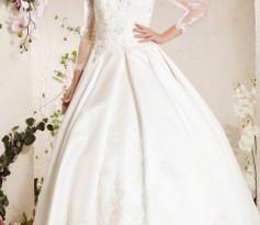 صورة فساتين افراح راقية , اجمل فستان زفاف , قلبي يا ناس علي الجمال
