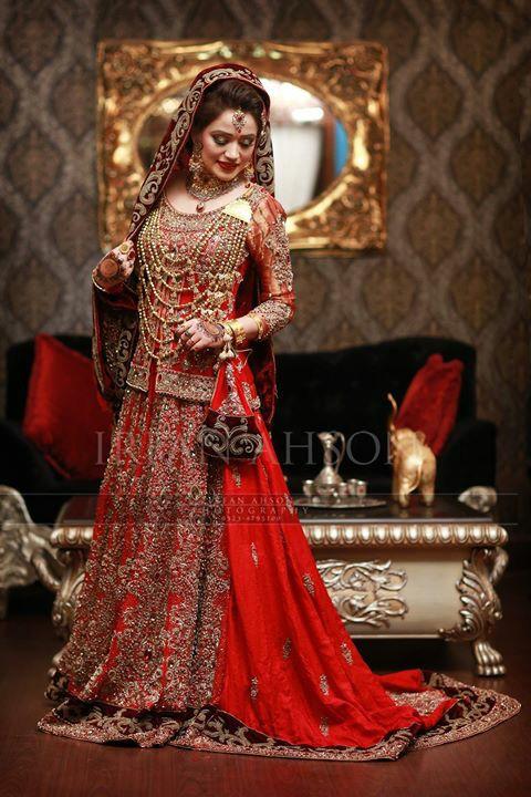 بالصور ازياء هندية للاعراس , جمال الالون يخطف العيون 339 1