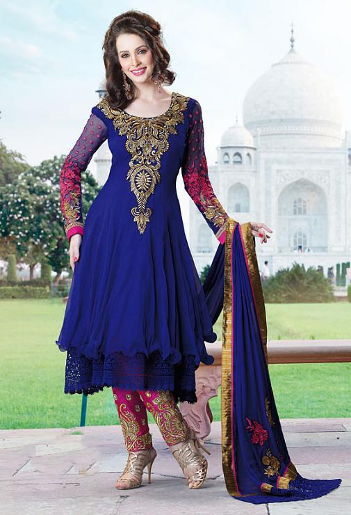 بالصور ازياء هندية للاعراس , جمال الالون يخطف العيون 339 3