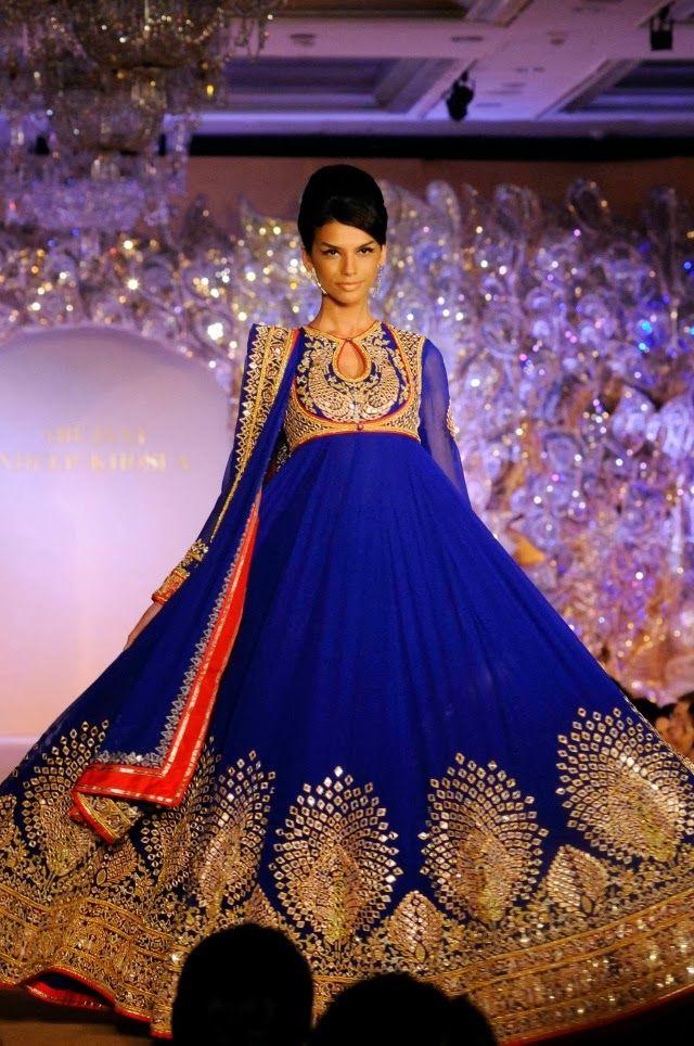 بالصور ازياء هندية للاعراس , جمال الالون يخطف العيون 339 5