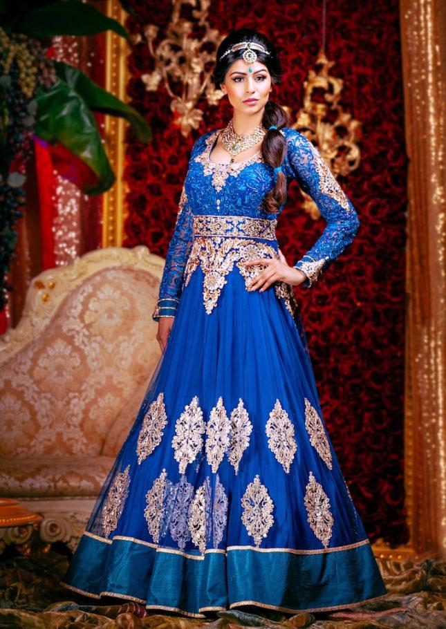 بالصور ازياء هندية للاعراس , جمال الالون يخطف العيون 339 6