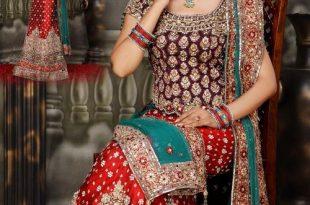 صورة ازياء هندية للاعراس , جمال الالون يخطف العيون