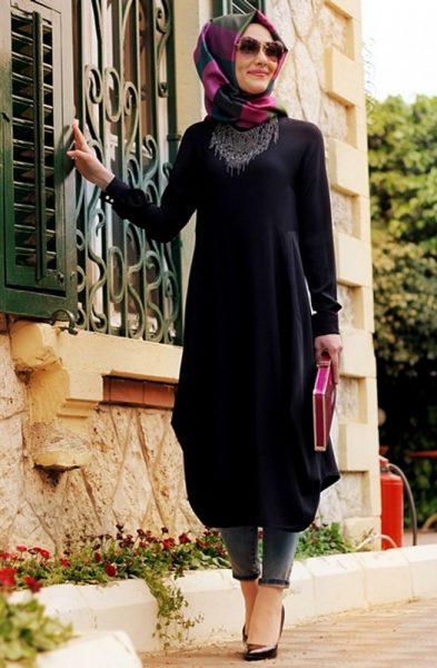 بالصور اجمل ملابس محجبات جديدة 2019 , احدث موديلات الازياء المراة