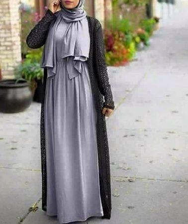 صوره اجمل ملابس محجبات جديدة 2018 , احدث موديلات الازياء المراة