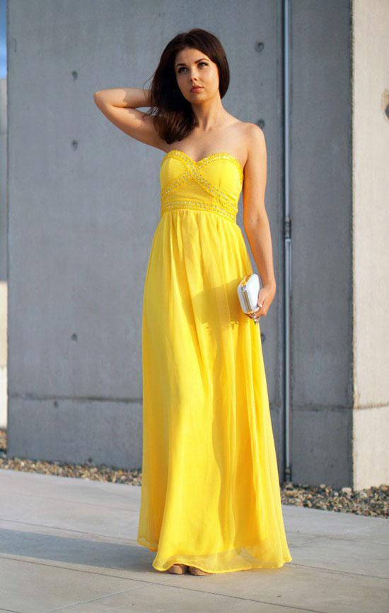 بالصور فساتين باللون الاصفر , جمال واناقة لون زاهي 390 5