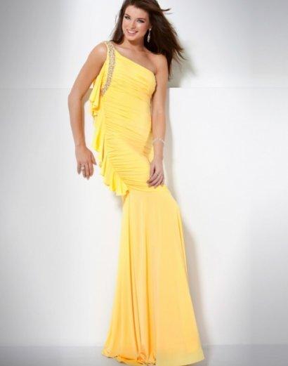 بالصور فساتين باللون الاصفر , جمال واناقة لون زاهي 390 7