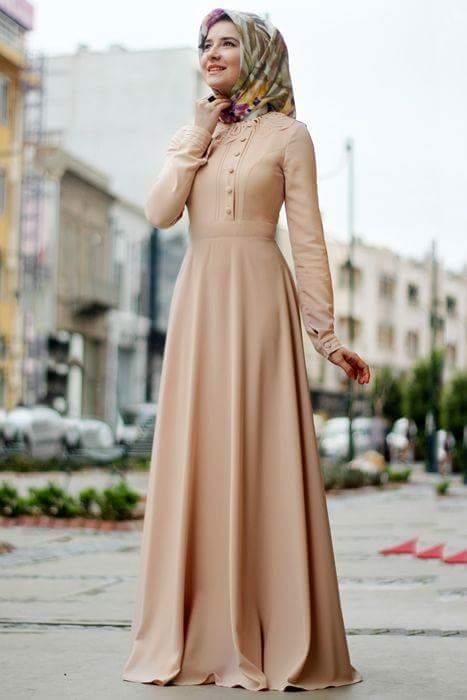 9e0acee44 صور فساتين محجبات تركية 2019 , ملابس التركيات , جمال ورقة فظيعه يا بنات