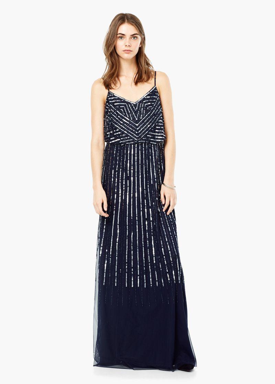 صورة احلى الفساتين السهره للبنات 2020 , طعامة وجمال مش طبيعي 463