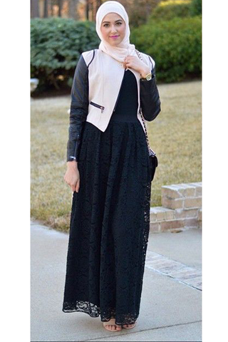 بالصور اجمل ملابس محجبات 2019 , يا جمالو علي الشياكة 478
