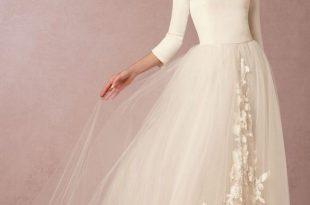 صورة فساتين زفاف مودرن 2020 , اجمل واحدث فستان ليلة العمر