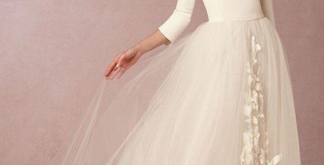 صورة فساتين زفاف مودرن 2019 , اجمل واحدث فستان ليلة العمر