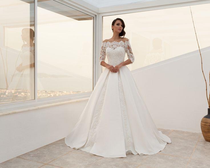 بالصور فساتين زفاف مودرن 2019 , اجمل واحدث فستان ليلة العمر 480 7
