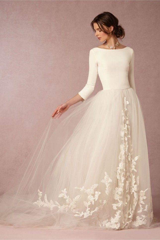 صور فساتين زفاف مودرن 2019 , اجمل واحدث فستان ليلة العمر