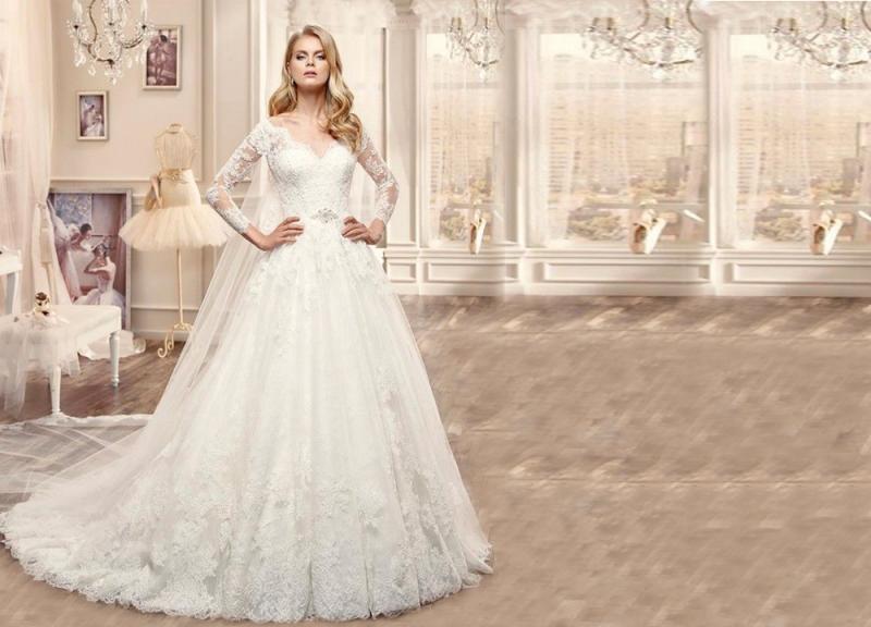 بالصور افخم فساتين زفاف 2019 , اجمل ازياء ليلة العمر 495 14
