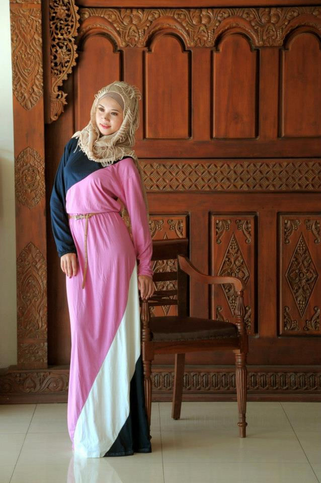 بالصور فساتين محجبات طويلة , ازياء حشمة للبنات , اجمل الملابس لاحلى سيدات 498 7