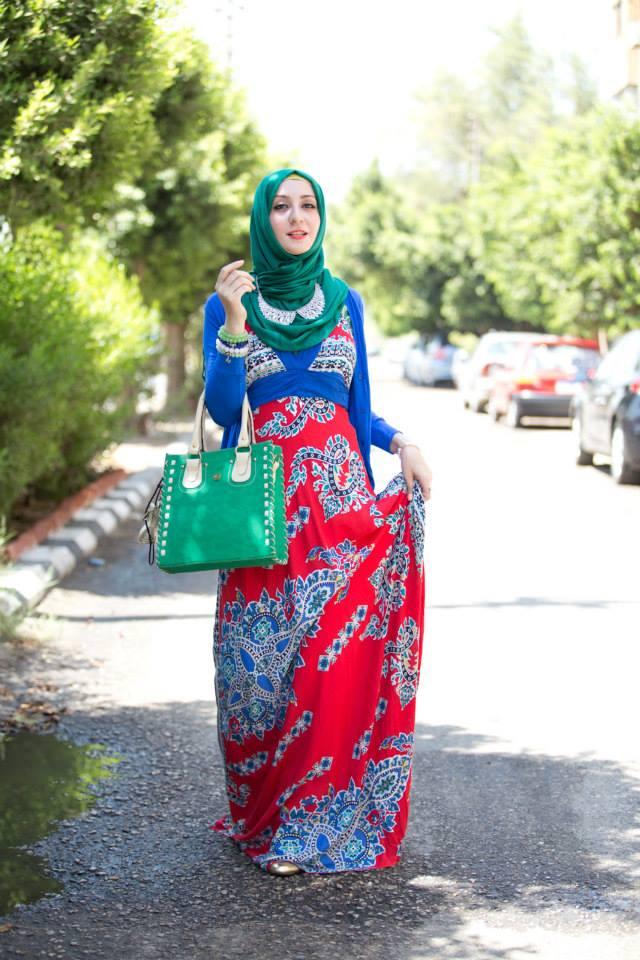 بالصور فساتين محجبات طويلة , ازياء حشمة للبنات , اجمل الملابس لاحلى سيدات 498 9