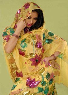 صورة ازياء سهره سودانيه , ملابس السودانيات , اجمل الملابس للبشرة السمراء