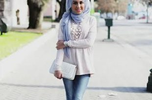 صورة ازياء محجبات فيس بوك 2020 , اجمل ملابس محجبات , الحجاب والزى الذى يتناسب معه