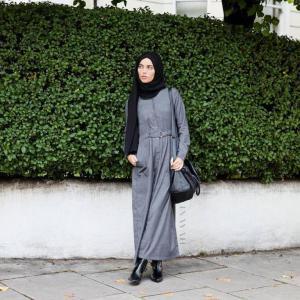 بالصور ازياء محجبات فيس بوك 2019 , اجمل ملابس محجبات , الحجاب والزى الذى يتناسب معه 52 2