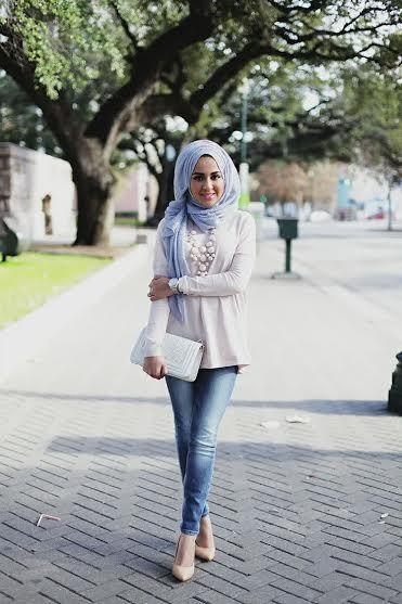 بالصور ازياء محجبات فيس بوك 2019 , اجمل ملابس محجبات , الحجاب والزى الذى يتناسب معه 52