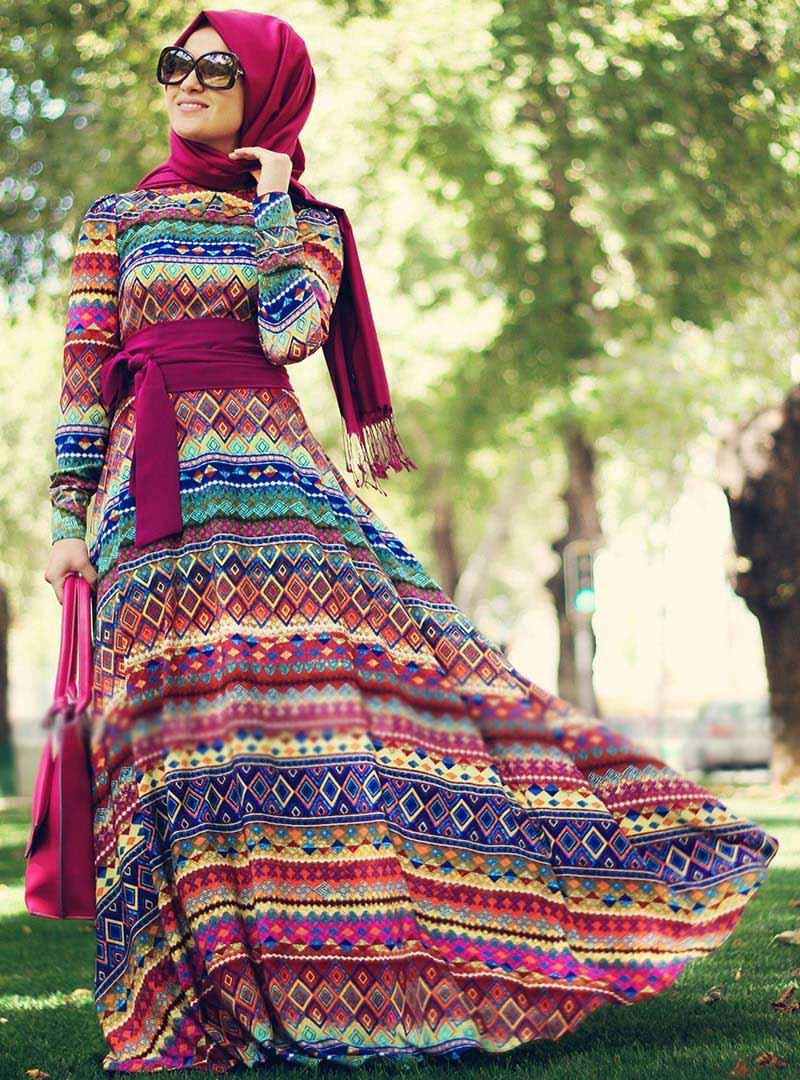 بالصور ملابس محجبات 2019 , اجمل الملابس مع ارتداء الحجاب 56 7