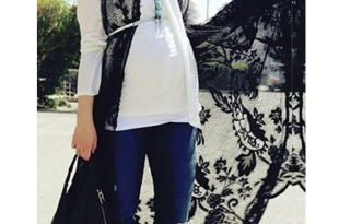 صورة ازياء حوامل محجبات 2020 , للخروج والسهرات وكل المناسبات , ملابس جميلة لكل فتاه