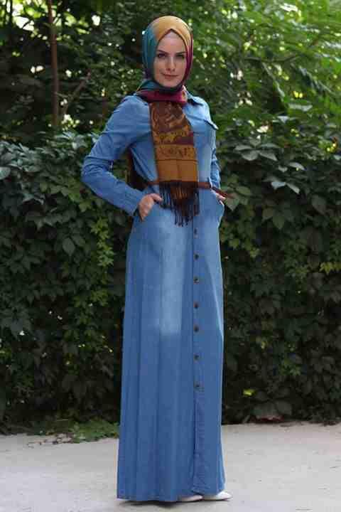 بالصور جينز عبايات , روعة لكل السيدات , اجمل الموديلات التى تتميز بالبساطه 69 12