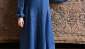 صوره جينز عبايات , روعة لكل السيدات , اجمل الموديلات التى تتميز بالبساطه